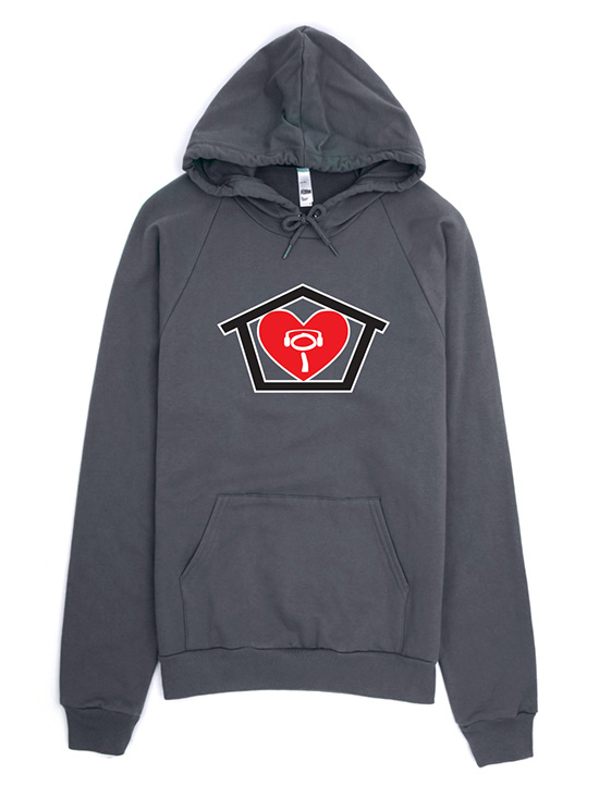 I Love House Hoodie Sweatshirt Asphalt