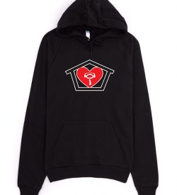 I Love House Hoodie Sweatshirt Black
