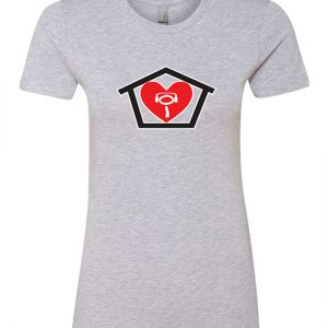 I Love House - Ladies The Boyfriend Tee Heather Grey