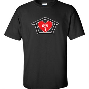 I Love House Mens Black T-Shirt